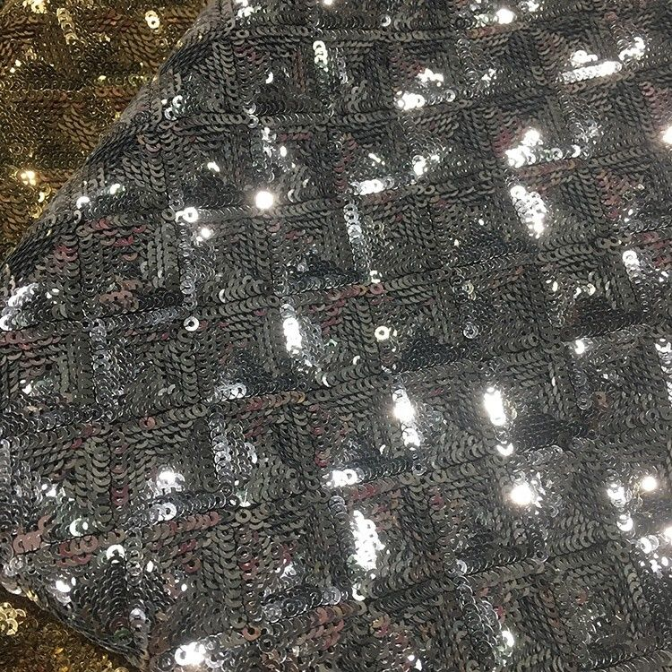 Multi Color Mermaid Sequin Fabric Embossed Spangle Printed Soft Knitted